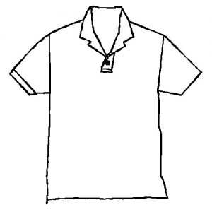 Polo shirt drawing