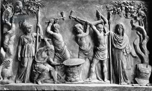 Hephaestus and Cyclopes forging the shield of Achilles