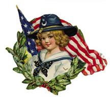Flag gril