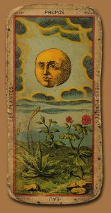 Antique tarot card