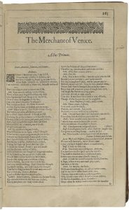 Merchant of Venice Title Page