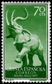 Elephant on Postage Stamp