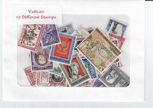 Vatican stamp packet